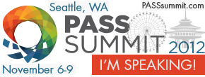 PASS Summit 2012 Speaker