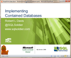Implementing Contained Databases