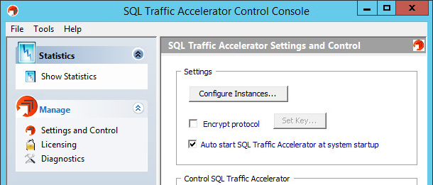 SQL Traffic Accelerator Options